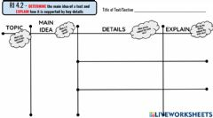 Interactive worksheet BES-Main Idea GRaphic Organizer (fill in)