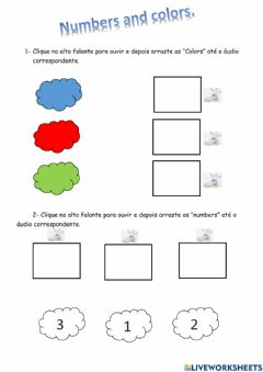 Ficha interactiva Numbers and colors