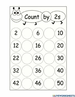 Ficha interactiva Counting in 2's