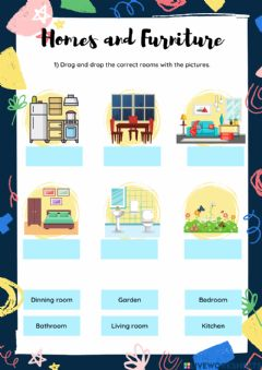 Interactive worksheet Homes and Furniture 1