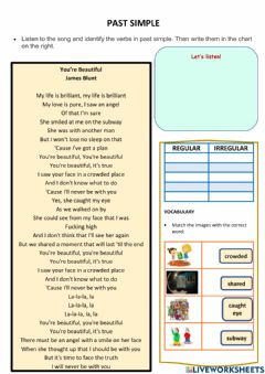 Interactive worksheet Past simple song