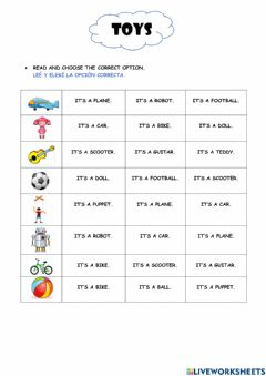 Interactive worksheet The Toys 3