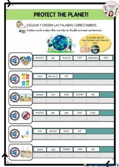 Interactive worksheet Protect the planet!