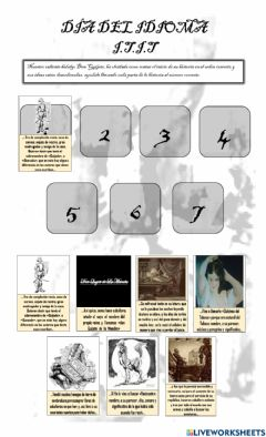 Interactive worksheet Don Quijote Primer Cápitulo