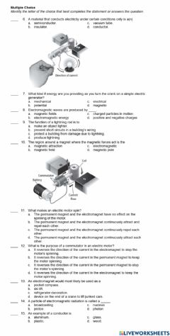 Ficha interactiva PS-17-13-Electricity and Magnetism Study Guide page 2