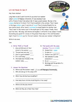 Interactive worksheet Level 4 - Get Ready for Quiz 5