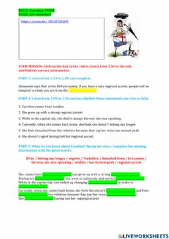 Interactive worksheet DAY 2 Accentism
