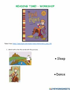 Interactive worksheet The pied piper