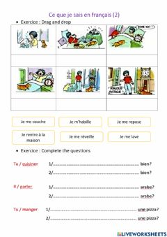 Interactive worksheet French 2