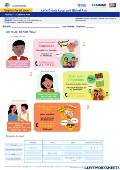 Interactive worksheet Activity 1:Creative Ads- Second (LE2)