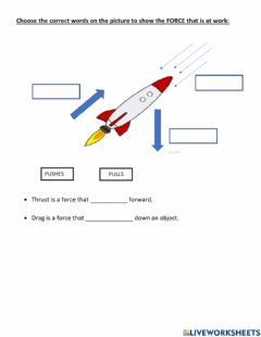 Interactive worksheet MA - Thrust forces