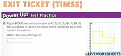 Interactive worksheet G6 EXIT Polygons on the coordinate plane