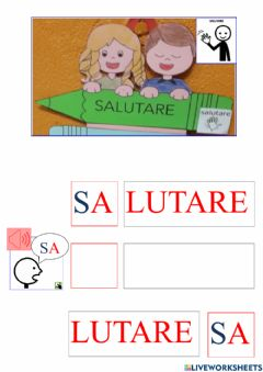 Interactive worksheet Sillabe lettera S
