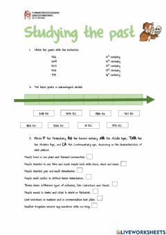 Interactive worksheet Unit 6 - Studying the past