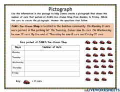 Interactive worksheet Pictograph
