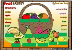 Interactive worksheet Fruit Basket (Drag and drop)