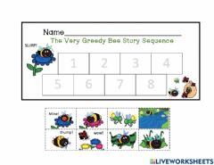Interactive worksheet The Very Greedy Bee