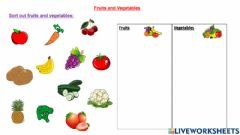 Interactive worksheet Fruits & Vegetables