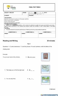 Interactive worksheet Final Review Guide RW