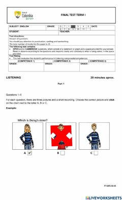 Interactive worksheet Final Review Guide L