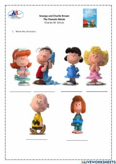 Ficha interactiva Snoopy and Charlie Brown - Name the Characters