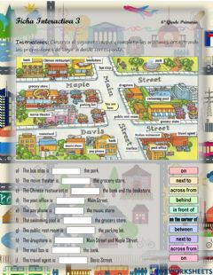 Interactive worksheet The City - Prepositions of place - 2.3.6°