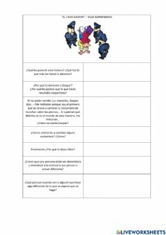 Interactive worksheet Caso gaspar
