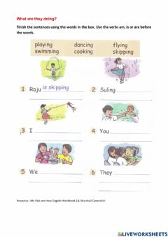 Interactive worksheet What are you doing?