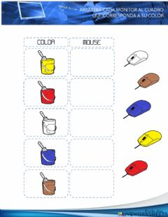 Interactive worksheet Cuadro mouse