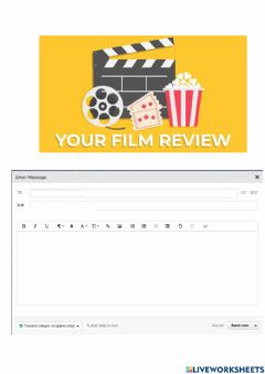 Interactive worksheet Writing email