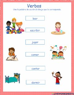 Interactive worksheet Palabras de acción