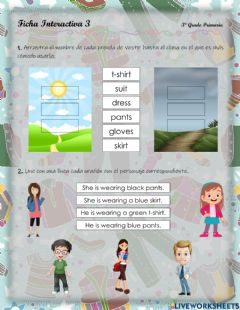 Interactive worksheet Clothes - 2.3.3°