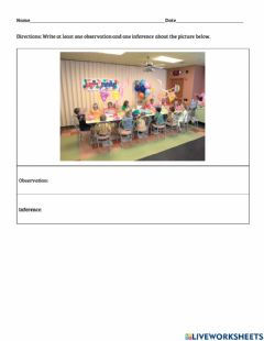 Ficha interactiva Picture Observation & Inference