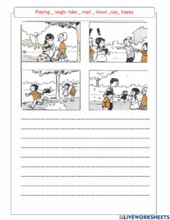 Interactive worksheet Picture story