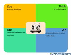 Interactive worksheet Thinking Routine See Think Me We