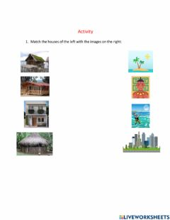 Interactive worksheet Ethnic groups and types of houses