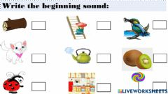 Interactive worksheet Phonic sounds