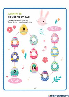 Interactive worksheet Counting by Two