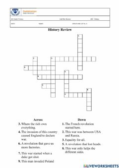 Interactive worksheet Histroy Review