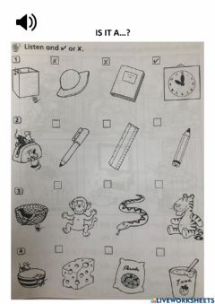 Interactive worksheet Is it a?