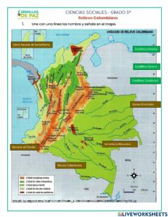 Interactive worksheet Relieve Colombiano
