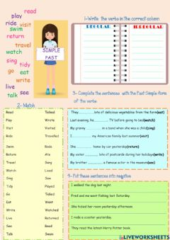 Interactive worksheet Revision PAST SIMPLE