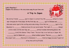 Interactive worksheet A School Trip to Japan