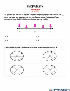 Interactive worksheet Probability Homework SOL REVIEW