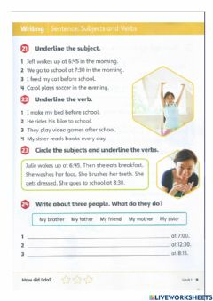 Interactive worksheet Workbook - Making sentences