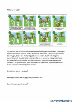 Interactive worksheet Al lupo, al lupo!