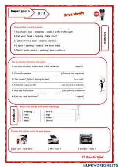 Interactive worksheet Revision SG6 U2