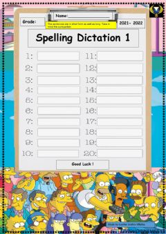 Interactive worksheet Spelling Dictation