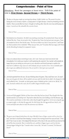 Interactive worksheet Author's Point of View
