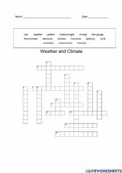 Ficha interactiva Weather and Climate